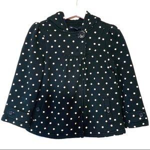 Baby Gap Girls Black Coat Polka Dot With Hood 4
